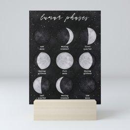 Lunar Phases Mini Art Print