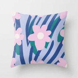 Flower Market Amsterdam Throw Pillow