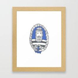 Burly Men : Sailor Framed Art Print