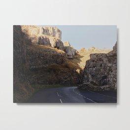 Cheddar Gorge Road Metal Print