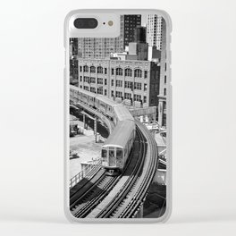 Brown Line Clear iPhone Case