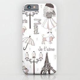 Paris Girl iPhone Case