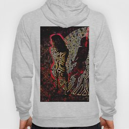 9255-KMA Abstract Fine Art Nude Woman in Red Hoody