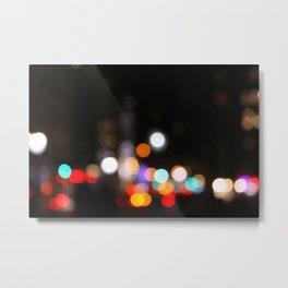 NYC Lights at Night Metal Print