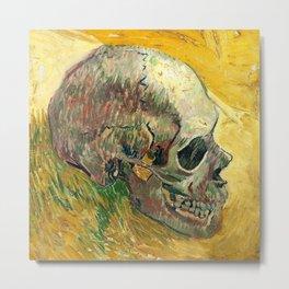 Van Gogh Skull Painting Metal Print