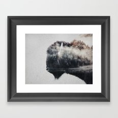 Wild West Bison Framed Art Print