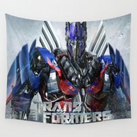 transformers Wall Tapestries featuring Budget Gift Transformers 4 by custompro