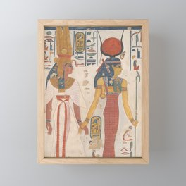 Queen Nefertari being led by Isis Framed Mini Art Print