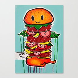 BITE ME Canvas Print