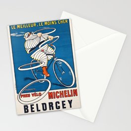 French vintage travel Michelin poster Belorgey Cycles France Stationery Cards