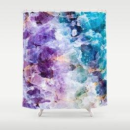 Multicolor quartz texture Shower Curtain