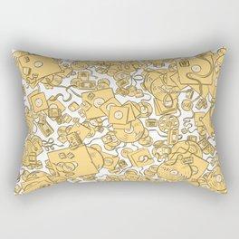 Technology! - Yellow Rectangular Pillow