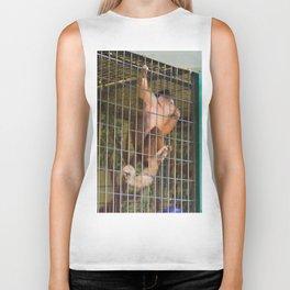 Monkey in Cage Biker Tank