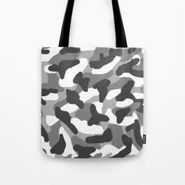 Grey Gray Camo Camouflage Tote Bag