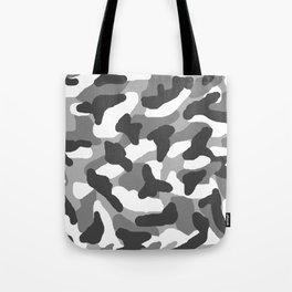 Grey Gray Camo Camouflage Tote Bag