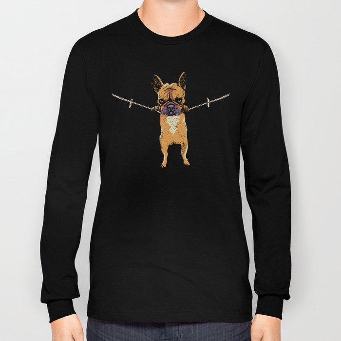 Hang in There Baby Frenchie Long Sleeve T-shirt