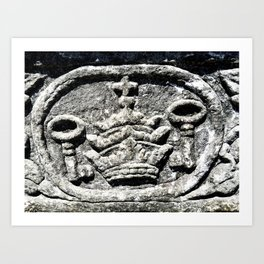Ancient Church Carvings Art Print