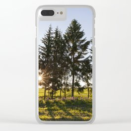 landscape during sunset , Clear iPhone Case