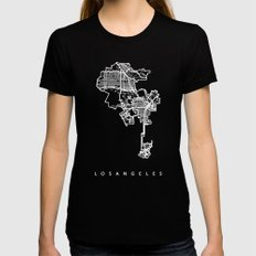LOS ANGELES Womens Fitted Tee Black SMALL