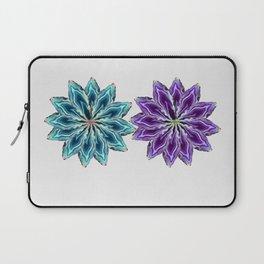 Agate flower spokes (two wheels) Laptop Sleeve