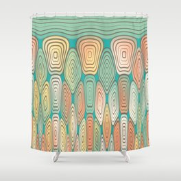 Layered squares Shower Curtain