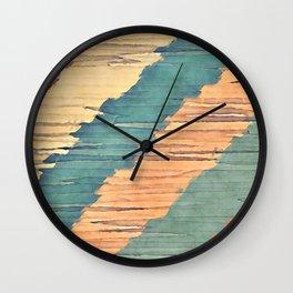 Abstract Shredded Stripes Wall Clock