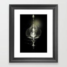 Spiral Lamp Framed Art Print