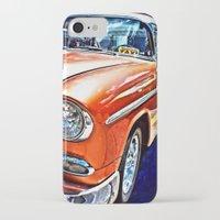 cuba iPhone & iPod Cases featuring Cuba Taxi by Brian Raggatt