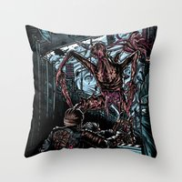 lee pace Throw Pillows featuring The Dead's Pace by WarrenRB