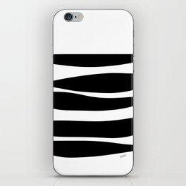 Irregular Stripes Black White Waves Art Design iPhone Skin