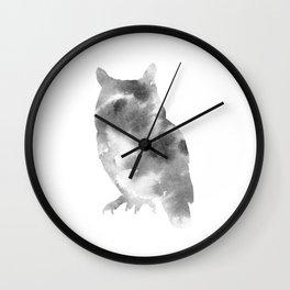 Hedwig + Gray Wall Clock