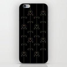 Tan & Black hearts iPhone & iPod Skin