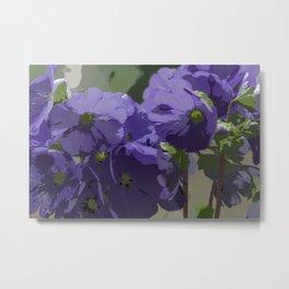 Posterised Flowers Metal Print