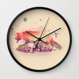 Woodlands Fox Wall Clock