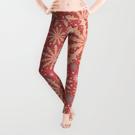 Christmas optical illusion texture pattern Leggings