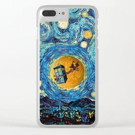 4th Doctor who starry night iPhone 4 5 6 7 8, pillow case, mugs and tshirt Clear iPhone Case