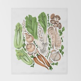 Vegetables Throw Blanket