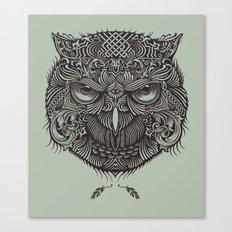 Warrior Owl Face Canvas Print