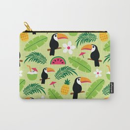 Toucan Tropical Summer Pattern Carry-All Pouch