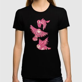 Owls in Flight – Pink Palette T-shirt