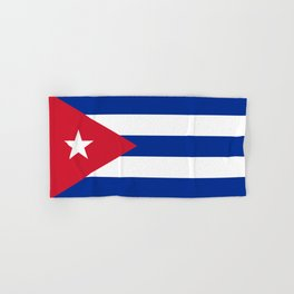 National flag of Cuba - Authentic HQ version Hand & Bath Towel