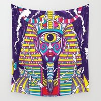 egyptian Wall Tapestries featuring Egyptian Tryp  by cchelle135