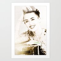 miley cyrus Art Prints featuring Miley Cyrus by Ylenia Pizzetti