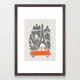 Paris Cityscape Framed Art Print