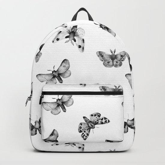 Autumn Night Moth White Backpack