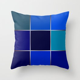 Cobalt , patchwork Throw Pillow