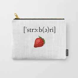 Strawberry Phonetic Carry-All Pouch