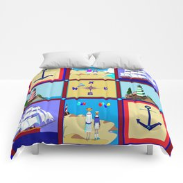 Another Nautical Quilt but with Compass Rose Comforters