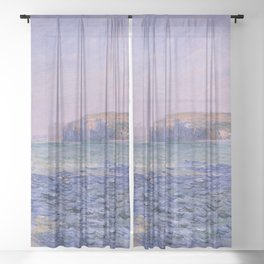 Claude Monet - Shadows on the Sea - Cliffs at Pourville Sheer Curtain
