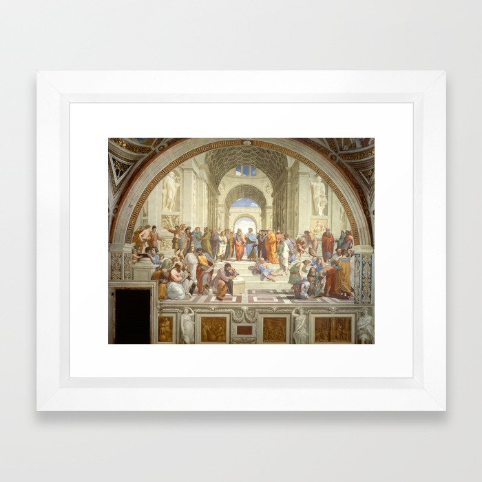 Raphael - The School of Athens Framed Art Print by constantchaos ...